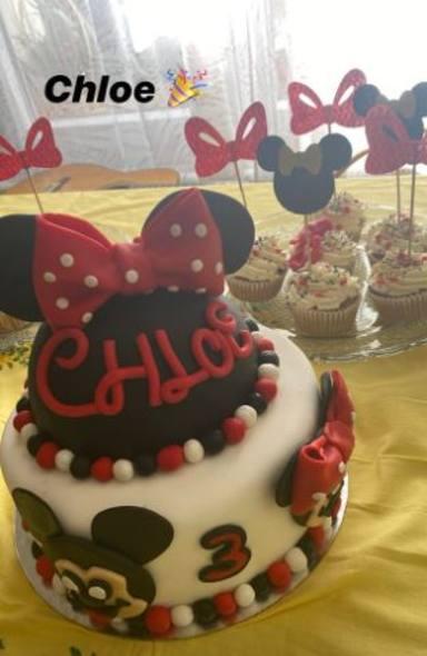 La tarta de cumpleaños de Chloe, la hija de Manuel Carrasco y Almudena Navalón