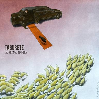 Portada del nuevo disco de Taburete, La broma infinita