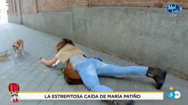 María Patiño se cae