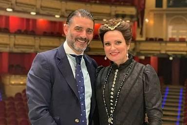 Ainhoa Arteta y Matías Urrea en una imagen de las redes sociales de cuando eran pareja