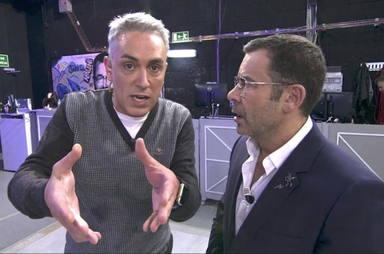 Jorge Javier Vázquez junto a Kiko Hernández en una imagen de Sálvame de hace unos años