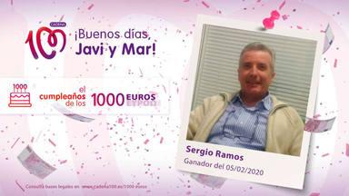 ¡Sergio Ramos es el ganador del cumpleaños de los 1.000 euros!