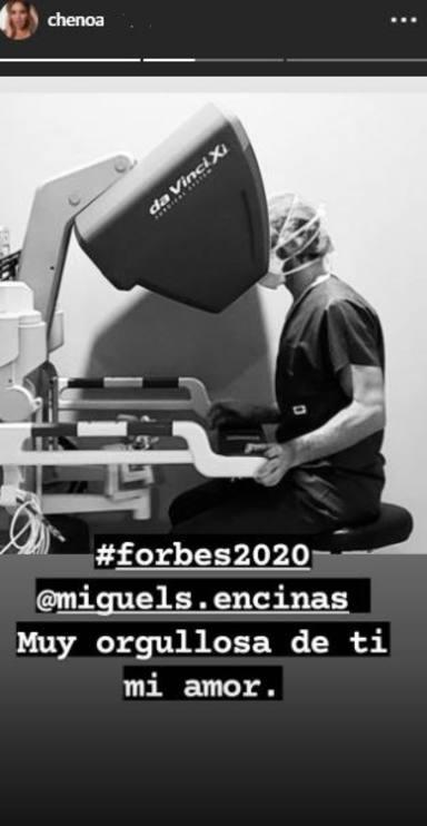 Chenoa, muy orgullosa de su chico Miguel Sánchez Encinas