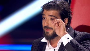 Las lágrimas de Antonio Orozco al escuchar el mensaje de su hijo Jan