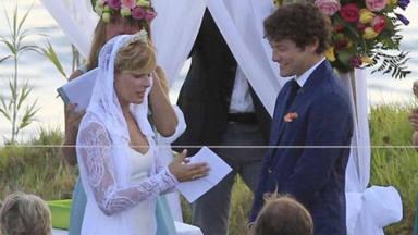 Tania Llasera el día de su boda