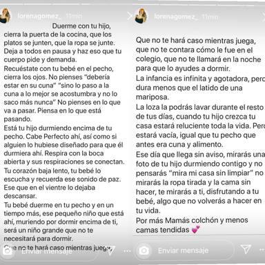 Lorena Gómez habla sobre la crianza con apego