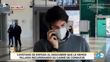 Cayetano Rivera enfado con la prensa