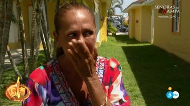 Isabel Pantoja se ve frente al espejo tras participar en 'Supervivientes 2019'