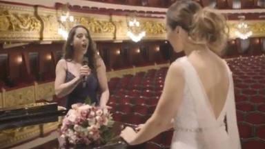 Las lágrimas de Mónica Naranjo ante la emocionante sorpresa de Ruth Lorenzo