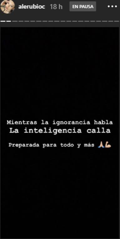 Alejandra Rubio manda un mensaje a su ex Álvaro Lobo