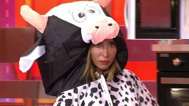 María Patiño disfrazada de vaca
