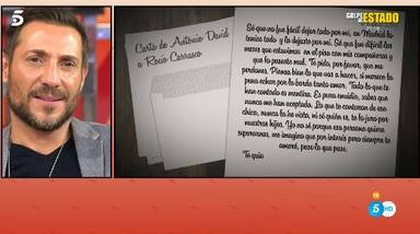 Contenido carta que Antonio David envió a Rocío Carrasco antes de romper su relación