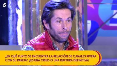 Canales Rivera derrumbado al hablar de la ruptura con su novia