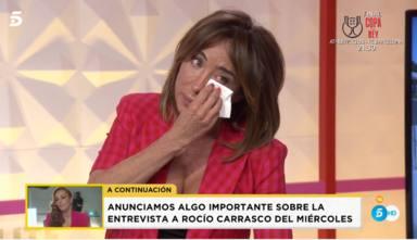 María Patiño se derrumba en directo tras ver unas imágenes inéditas del documental de Rocío Carrasco