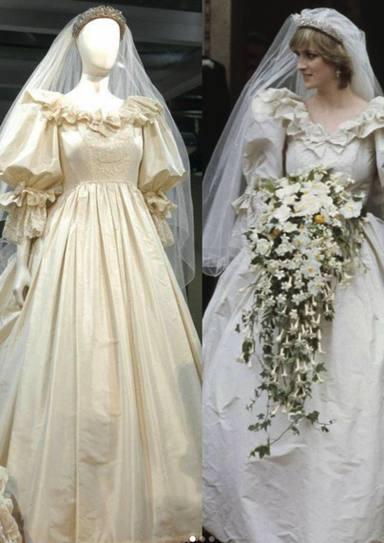 Este verano, el icónico vestido de novia de la princesa Diana se exhibirá en el palacio de Kensington según ha