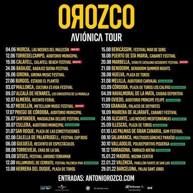 Antonio Orozco: Gira Aviónica 2021