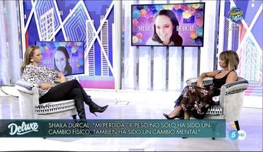 Shaila Dúrcal se sincera con María Patiño en el Deluxe sobre sus problemas con la comida y de peso
