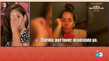 Anabel Pantoja discutió con su novio Omar en un directo de Instagram