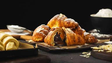 Croissant casero chocolate