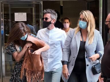 Gema López, Carlota Corredera y David Valldeperas en los juzgados en Madrid 19 Julio 2021.