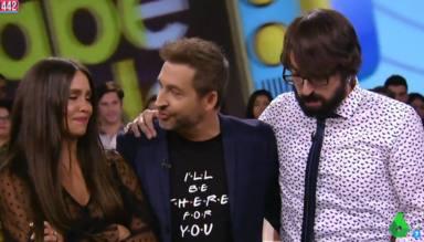 Cristina Pedroche, Frank Blanco y Quique Peinado en 'Zapeando'