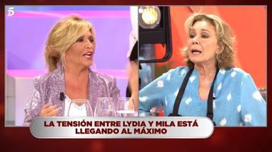 La monumental bronca entre Mila Ximénez y Lydia Lozano en 'La última cena' provoca un abandono en plató