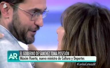 Maxim Huerta y Ana Rosa Quintana en su despedida