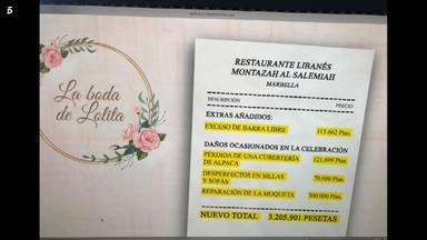 Factura boda Lolita Flores
