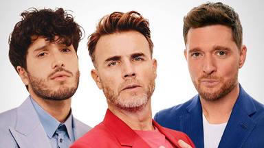 """Gary Barlow, Michael Bublé y Sebastián Yatra estrenan """"Elita"""" reunión tres talentos así por primera vez"""