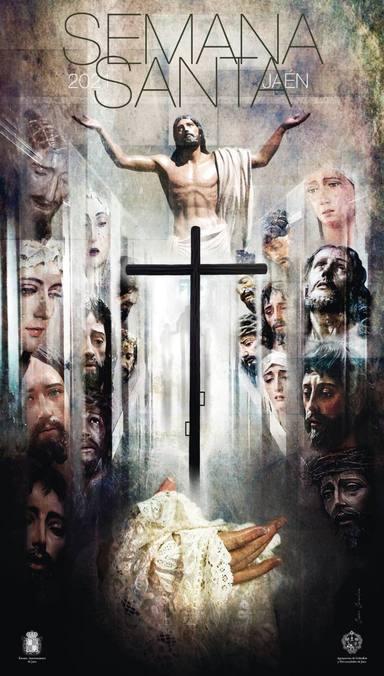 Presentado el cartel de la Semana Santa de Jaén. Una obra de César Carcelén