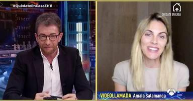Amaia Salamanca durante su entrevista en El Hormiguero