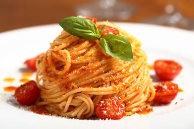 La pasta con tomate