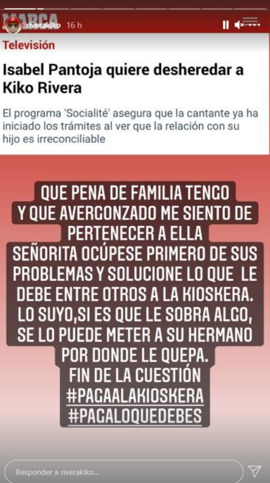 Kiko Rivera estalla en redes y asesta la estocada definitiva a su madre, Isabel Pantoja: Qué pena de familia