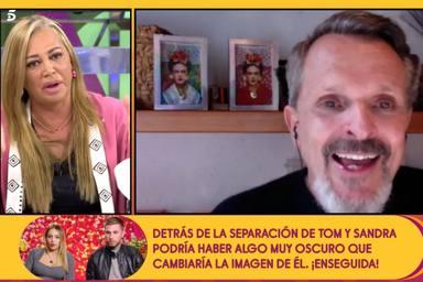 Belén Esteban, muy crítica con Miguel Bosé tras su última participación en una manifestación negacionista
