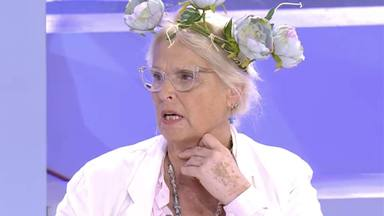 Lucía Dominguín explica por qué lleva flores en la cabeza desde hace unos meses