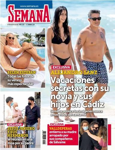El funeral por la madre de David Valldeperas, noticia en la portada de la revista Semana