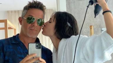 Alejandro Sanz y Rachel Valdés en una fotografía de Instagram