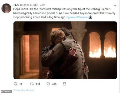 Tuit sobre el falso gazapo de Juego de Tronos