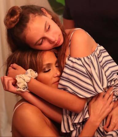 Jennifer López y su hija Ella