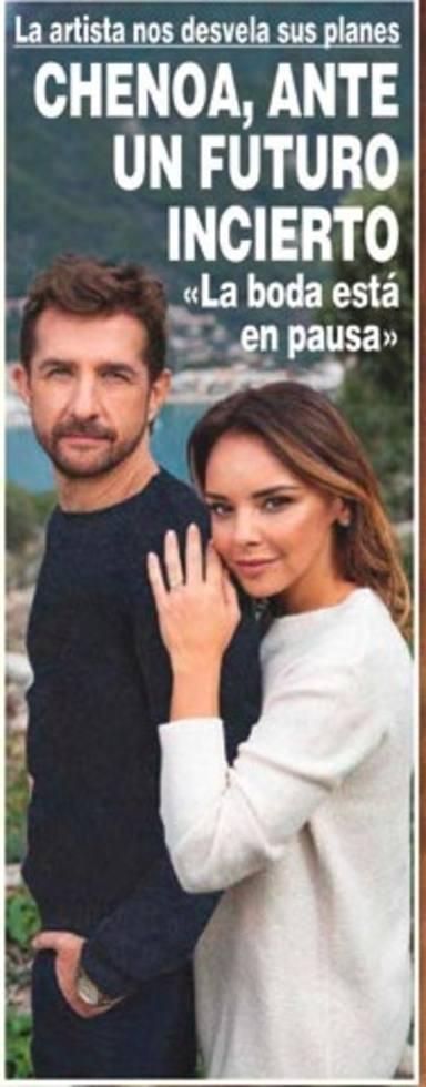 La boda de Chenoa y Miguel Sánchez Encinas, en pausa