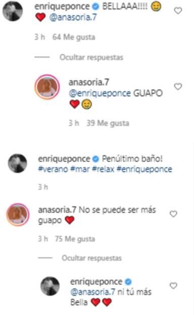 Ana Soria y Ponce Instagram mensajes