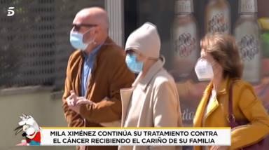 Las impactantes imágenes de Mila Ximénez tras su último ingreso hospitalario: muy delgada y caminando despacio