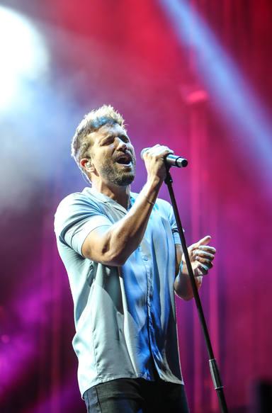Pablo Alborán durante su show en el Concert Music Festival con su gira Vértigo Tour
