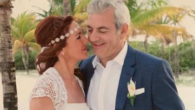 Carlos Sobera y su mujer Patricia el día de su boda en Riviera Maya hace 5 años