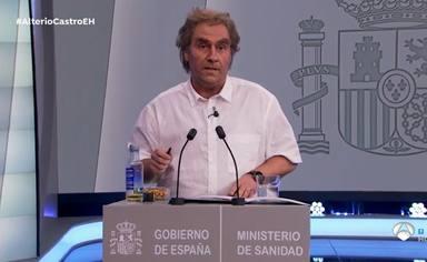 Carlos Latre caracterizado como Fernando Simón en El Hormiguero