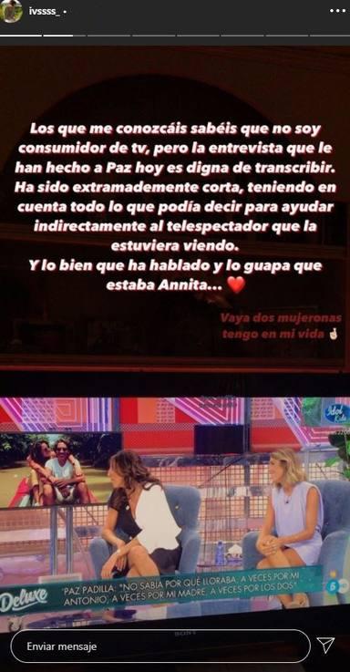 El emotivo mensaje de Iván, el novio de Anna Ferrer, a Paz Padilla