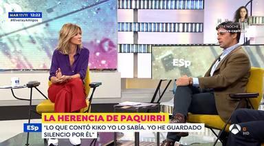 Susanna Griso, muy triste por Fran Rivera tras su enfrentamiento con Isabel Pantoja