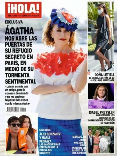 Portada de la revista ¡HOLA! donde aparecen esas imágenes de María Pedraza y Álex González juntos
