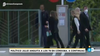 Celia, la hermana de Ana Obregón y su hija a la llegada del tanatorio