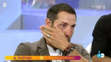 Antonio David, muy emocionado tras escuchar las palabras de Gloria Mohedano defendiendo a sus hijos
